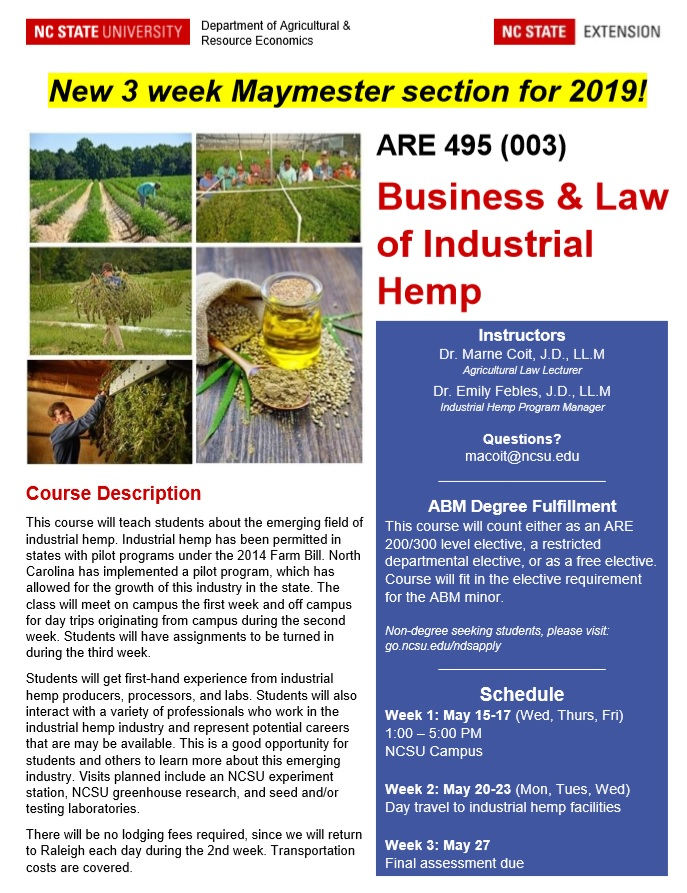Industrial hemp flyer image