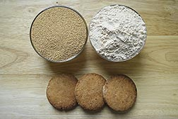 Hemp cookies and flour